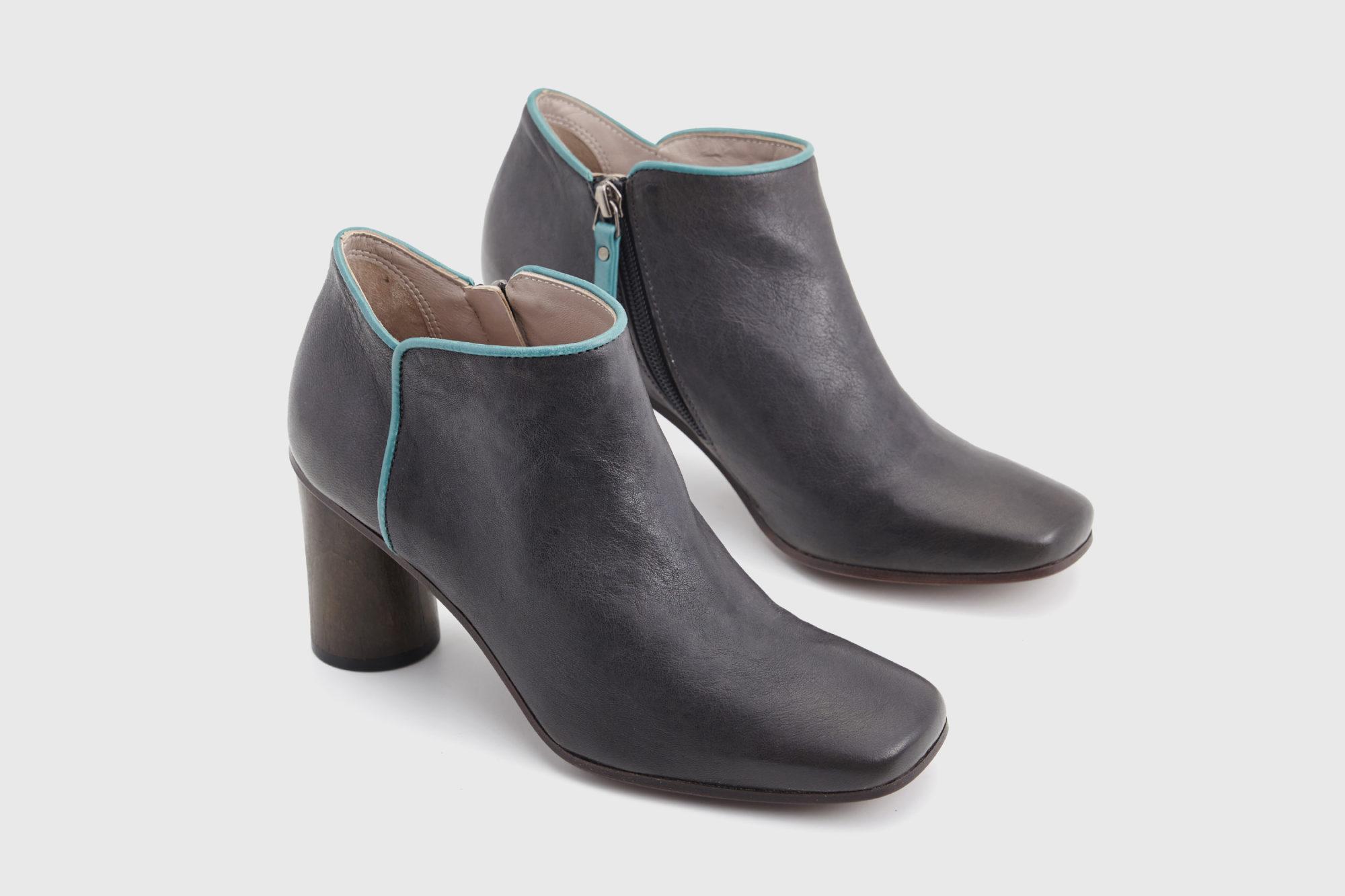 Dorotea zapato abotinado Zoe gris asfalto ss17 par