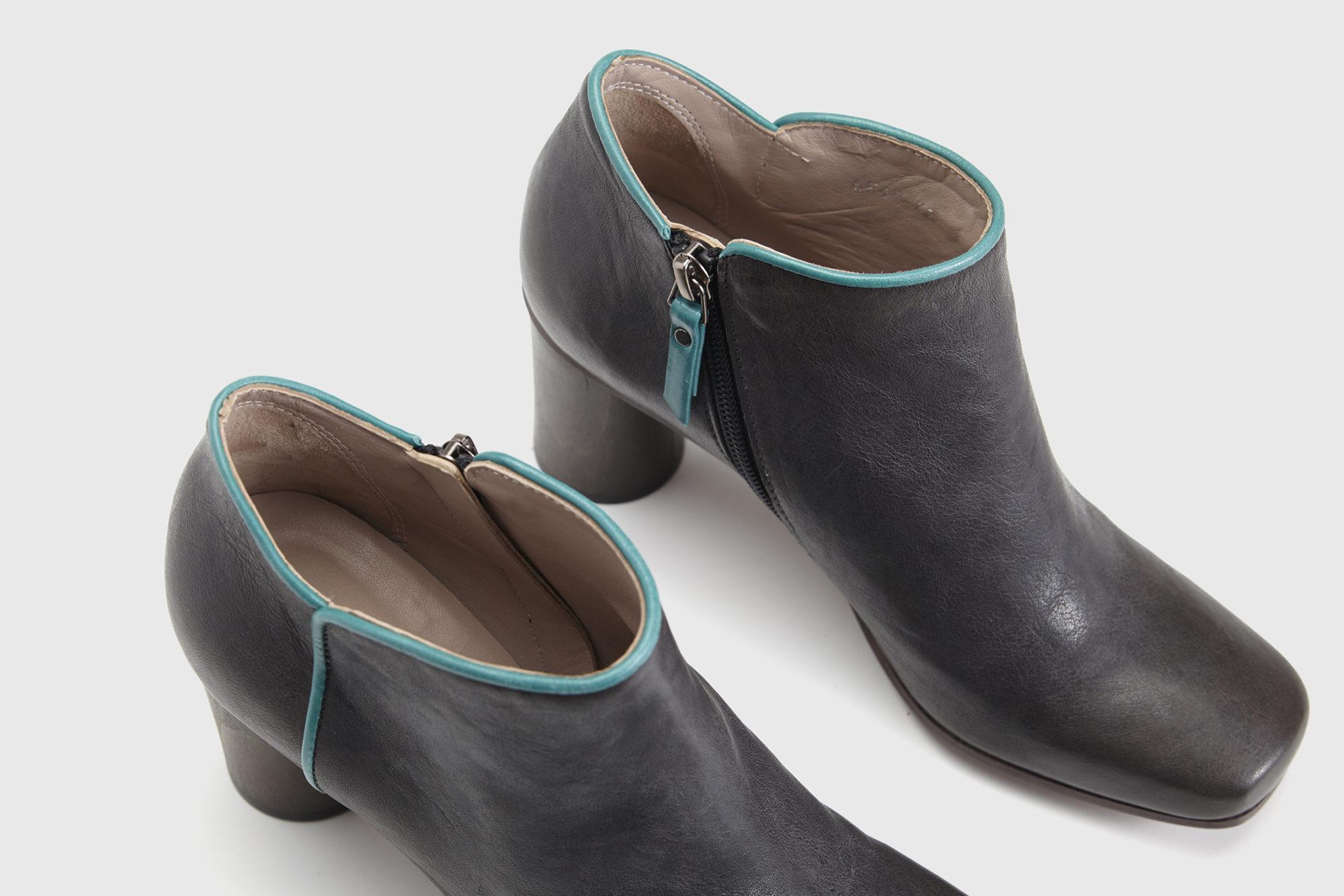 Dorotea zapato abotinado Zoe gris asfalto ss17 detalle