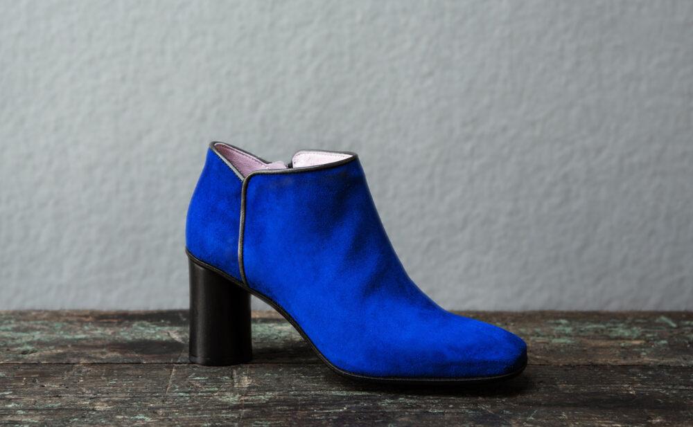 Dorotea zapato abotinado Zoe azul klein fw17