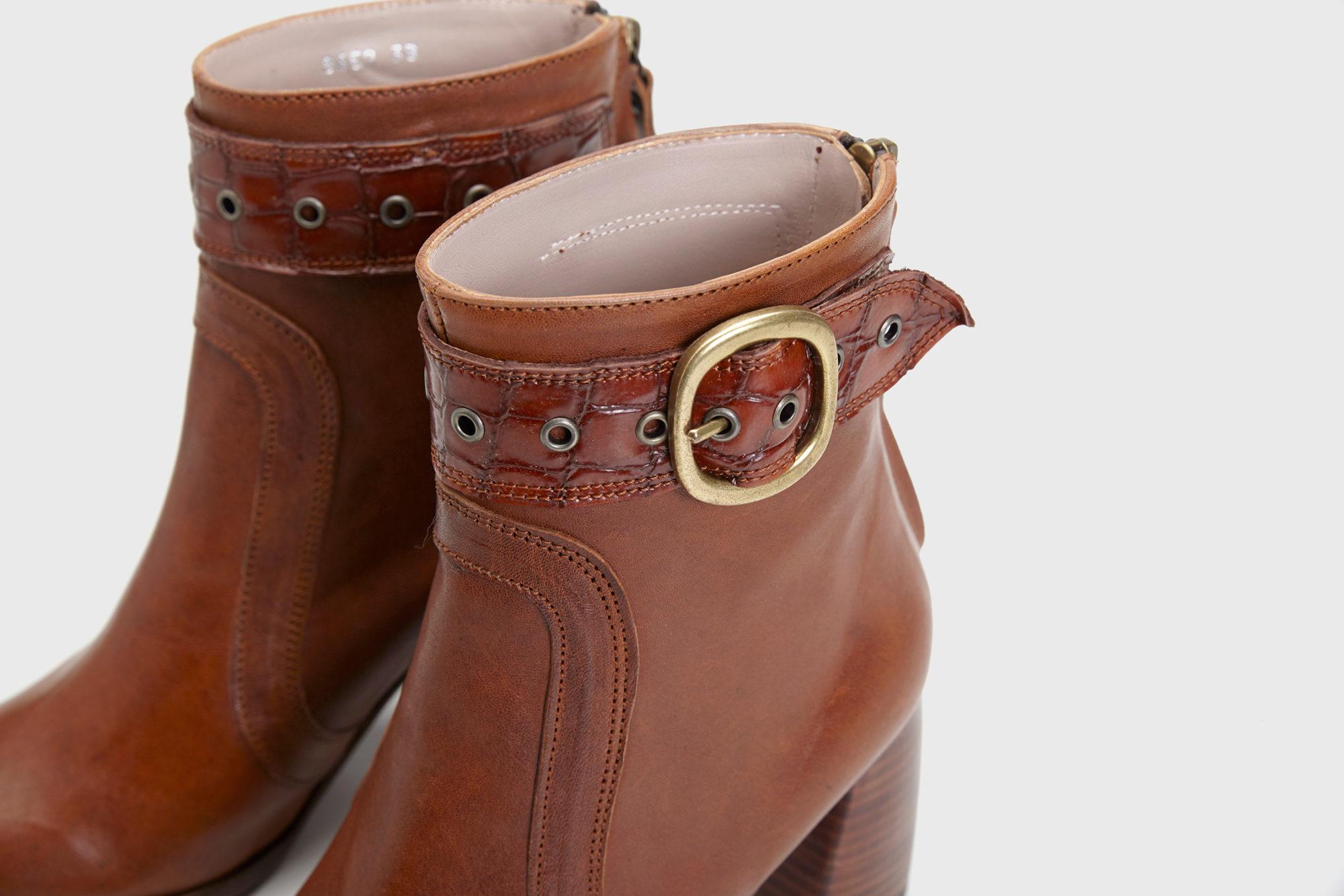Dorotea botín de tacón alto Norah color cuero fw17 detalle