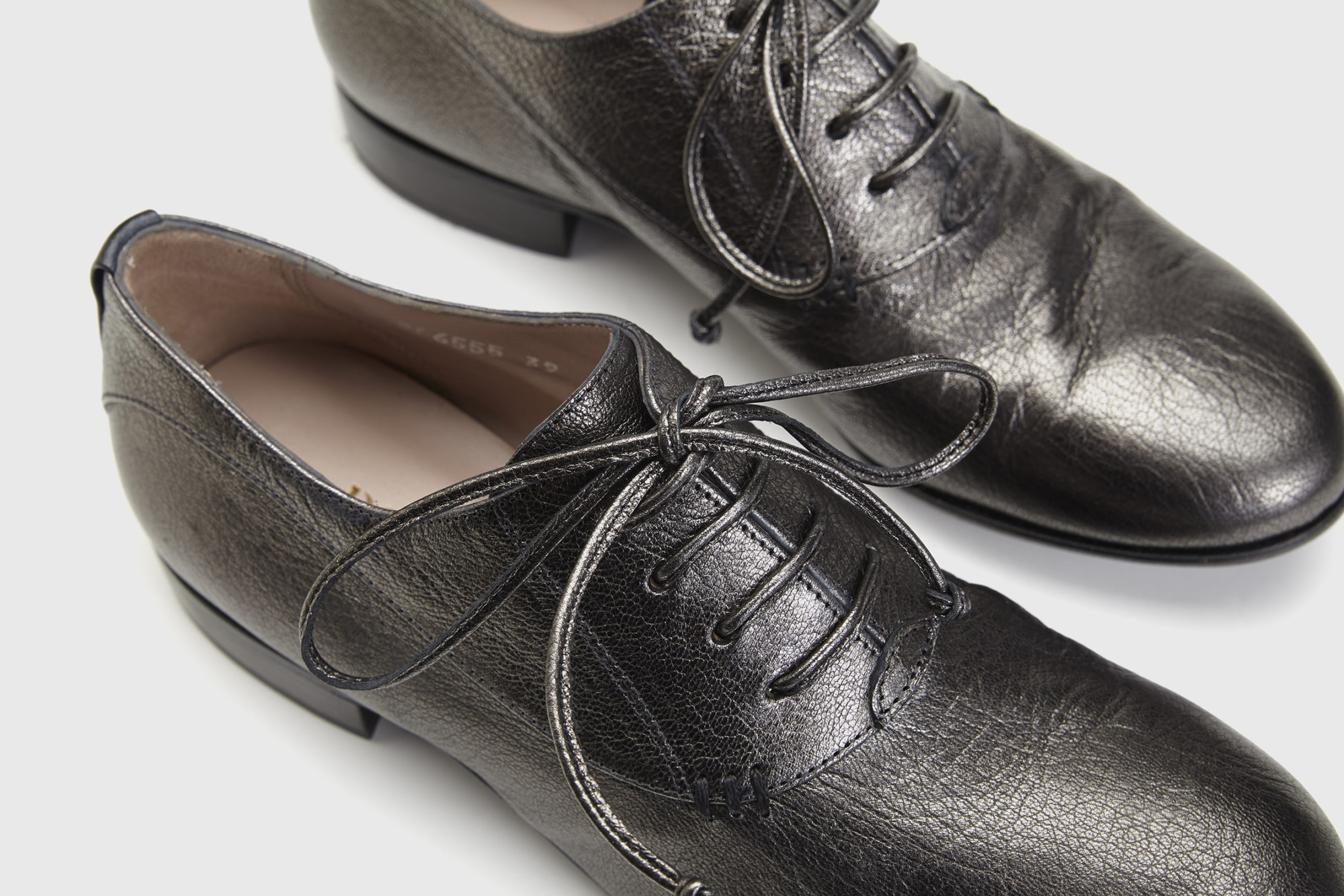 Dorotea zapato de cordones Florence antracite fw18 detalle
