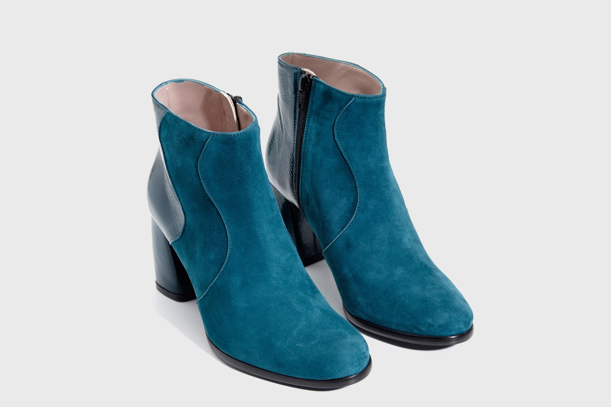 Dorotea botín de tacón alto Ruby azul lago fw17 par