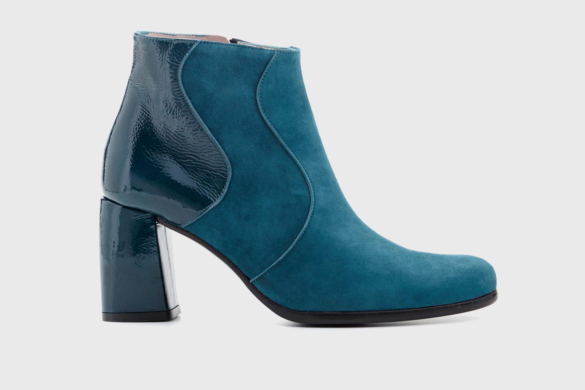 Dorotea botín de tacón alto Ruby azul lago fw17 perfil