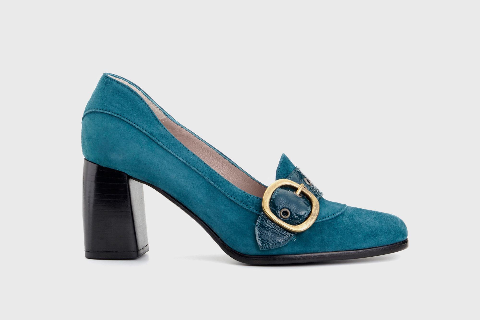 Dorotea zapato salón Juliette azul fw18 perfil