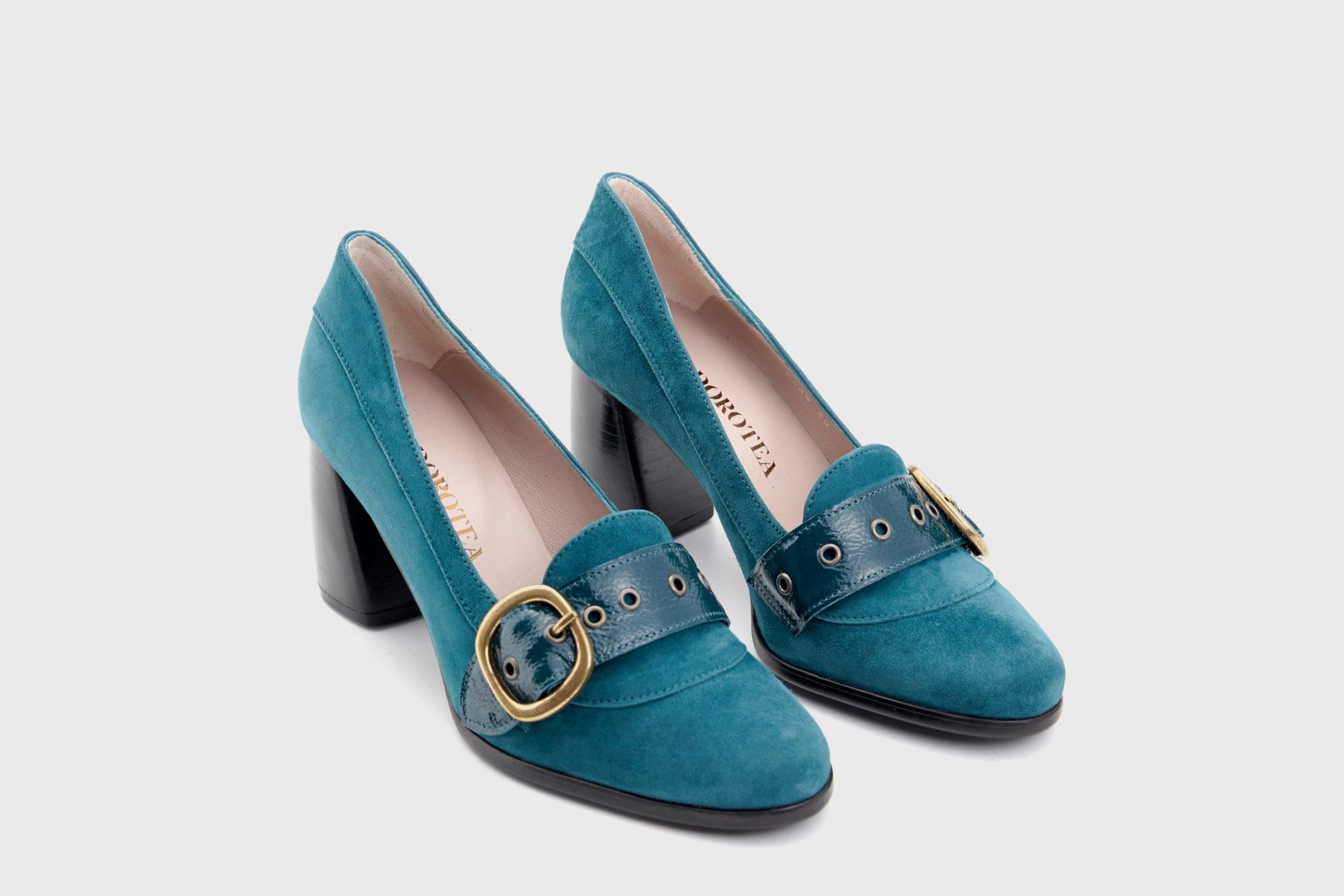 Dorotea zapato salón Juliette azul fw18 par