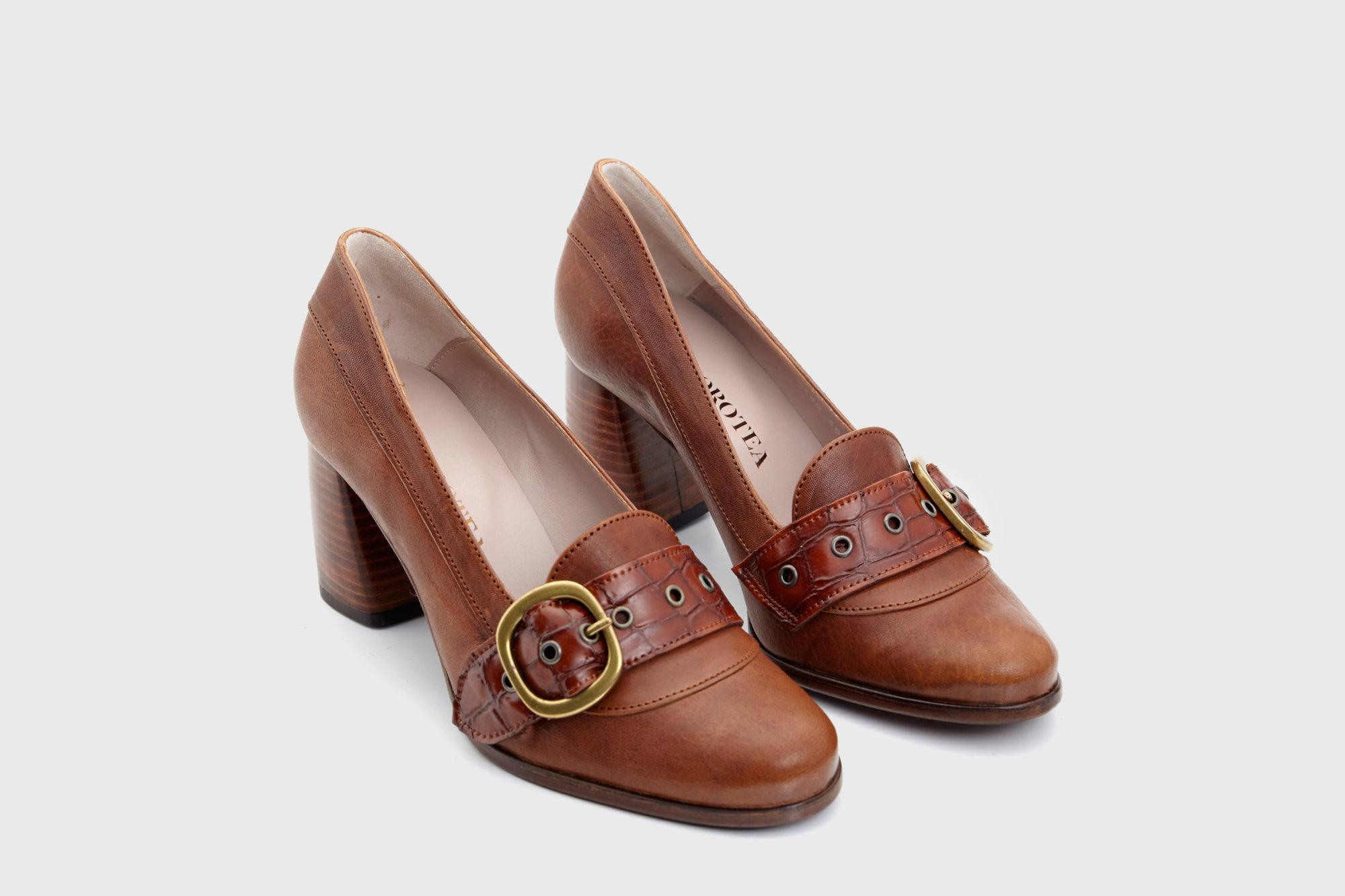 Dorotea zapato salón Juliette cuero fw18 par