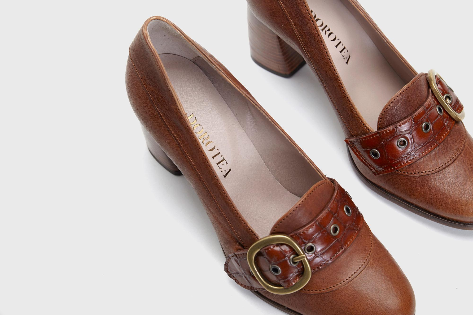 Dorotea zapato salón Juliette cuero fw18 detalle