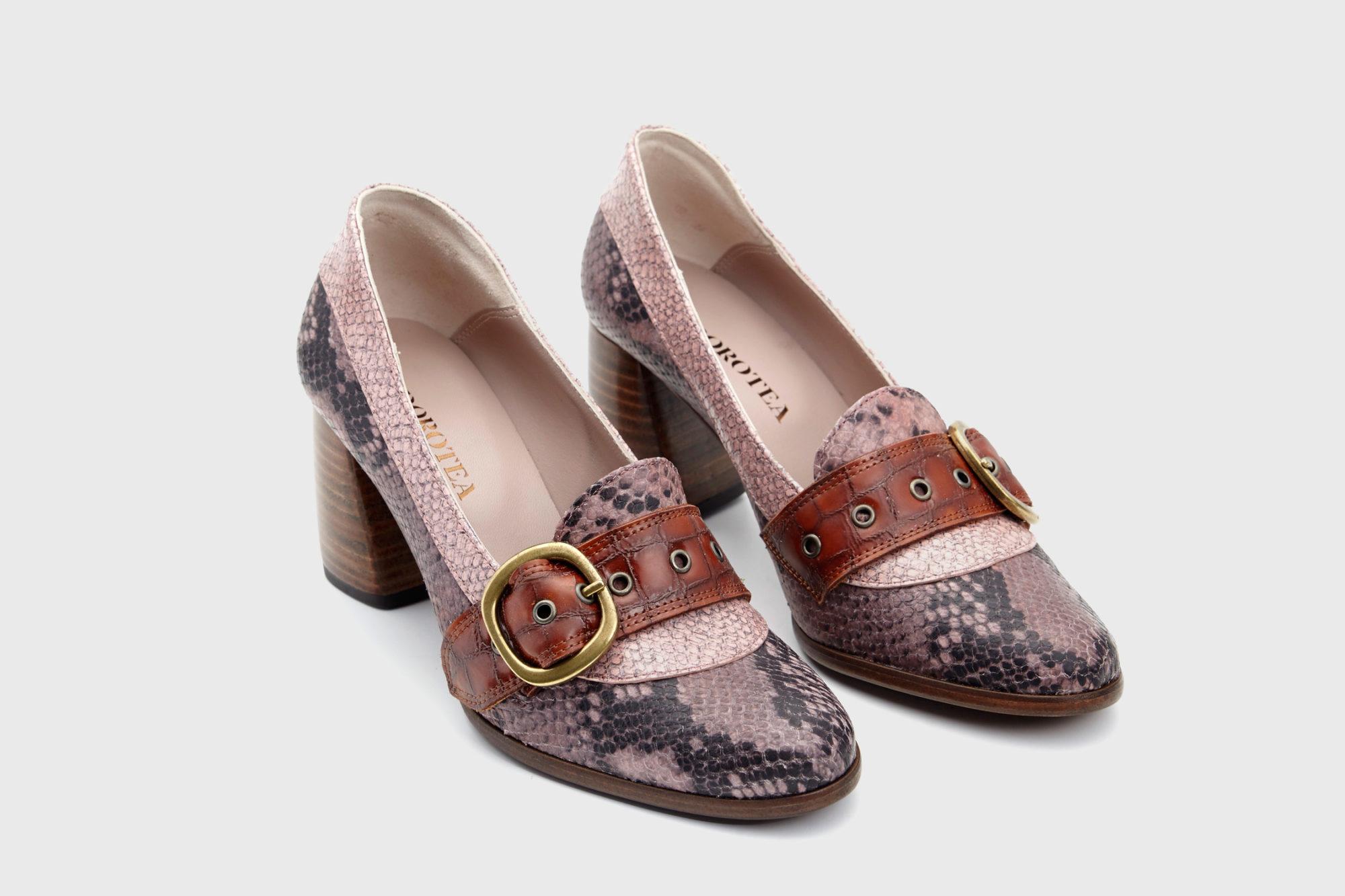 Dorotea zapato salón Juliette rosa fw17