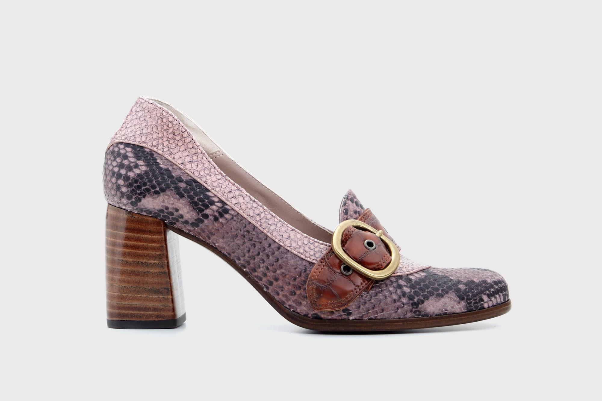 Dorotea zapato salón Juliette rosa fw17 perfil