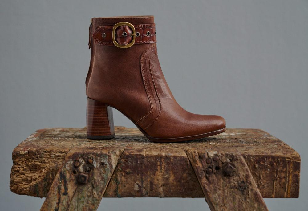 Dorotea botín de tacón alto Norah color cuero fw18