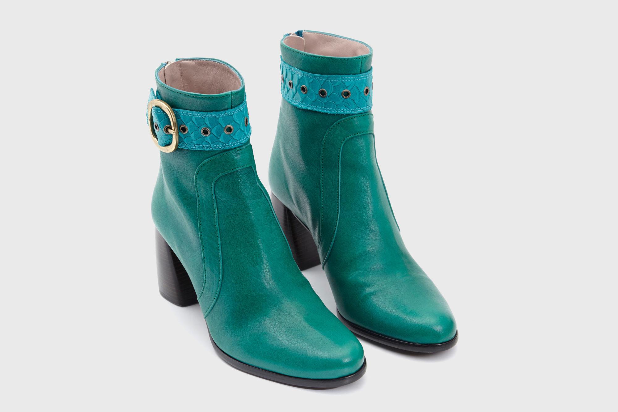 Dorotea botín de tacón alto Norah verde fw18 par
