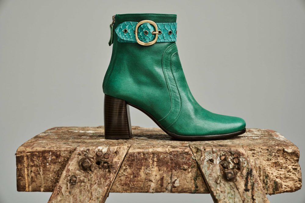 Dorotea botín de tacón alto Norah verde fw18