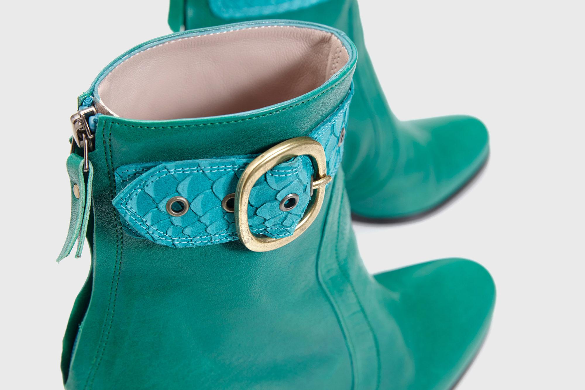 Dorotea botín de tacón alto Norah verde fw18 detalle