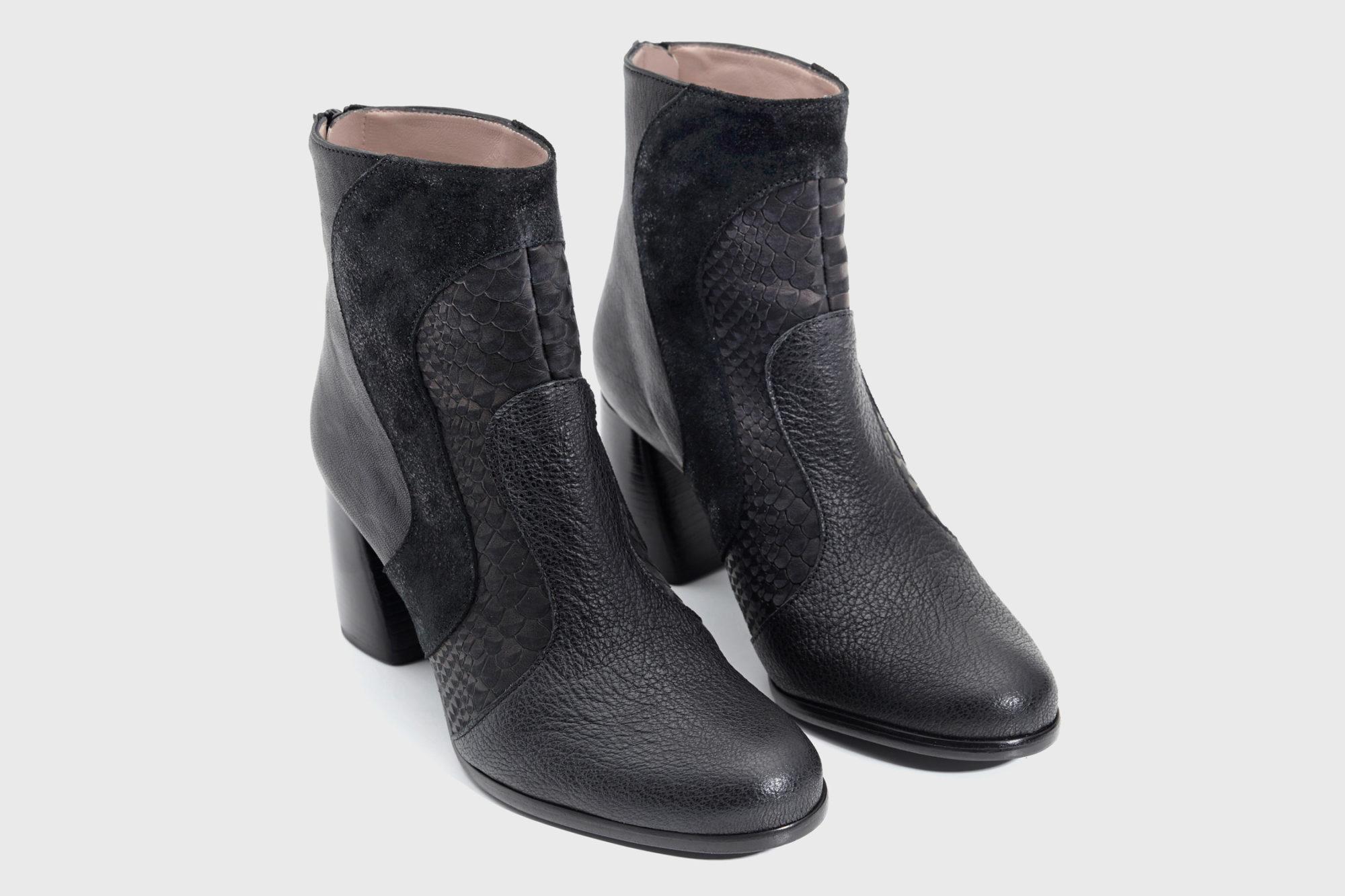 Dorotea botín de tacón alto Joy color negro fw18 par