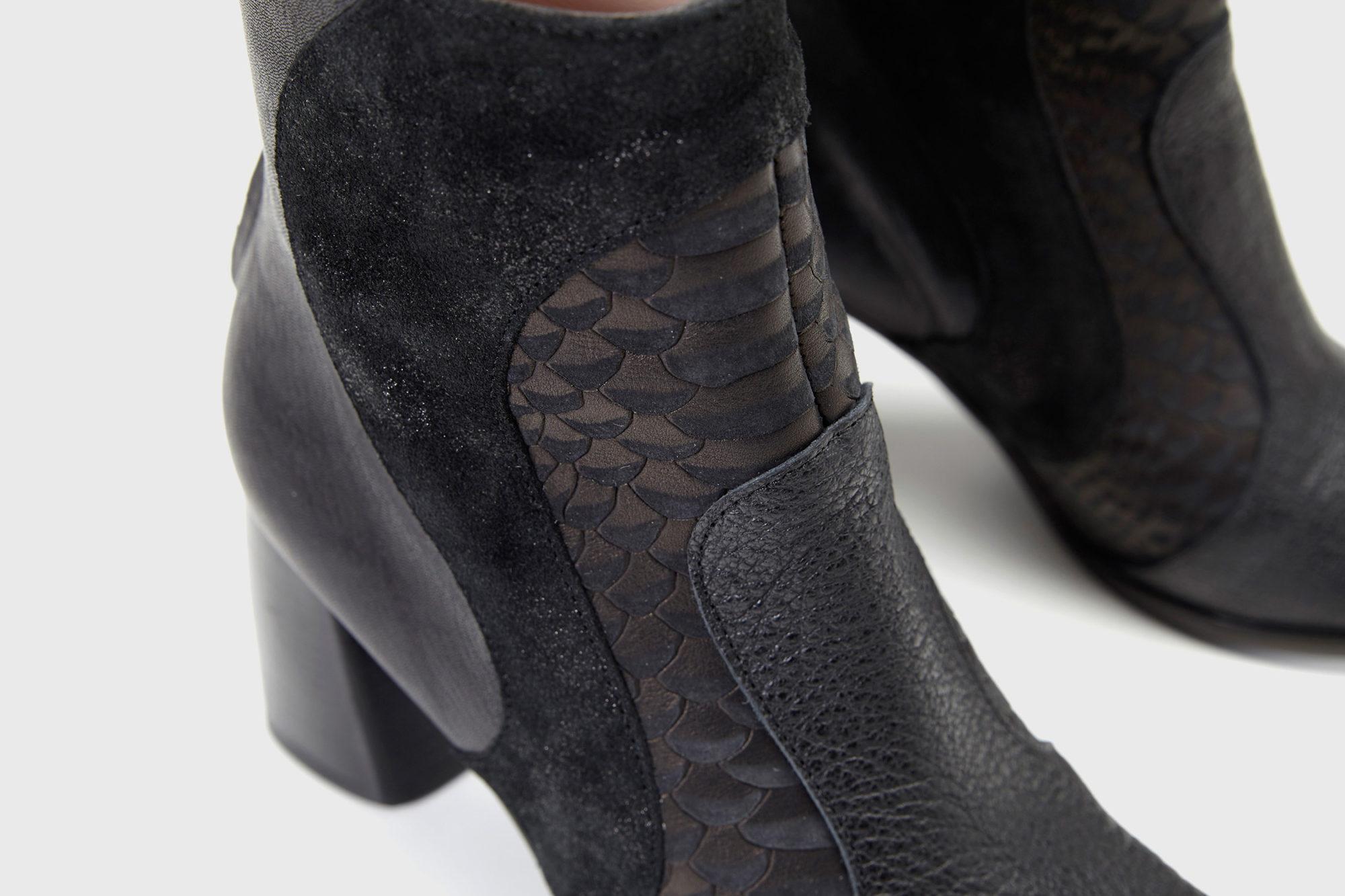 Dorotea botín de tacón alto Joy color negro fw18 detalle