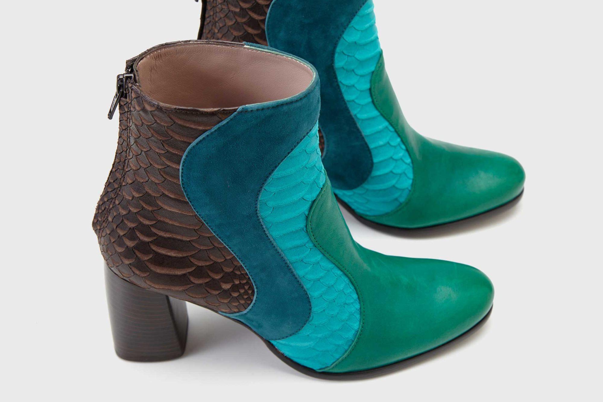 Dorotea botín de tacón alto Joy multicolor fw18 detalle