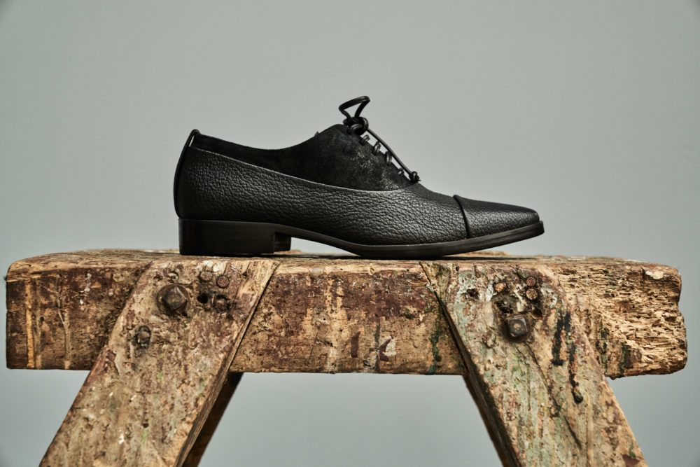 Dorotea zapato de cordones Billie negro fw18