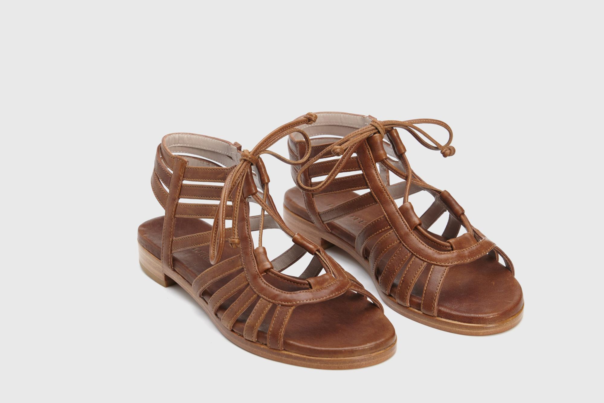 Dorotea sandalia plana Margot cuero ss18 par