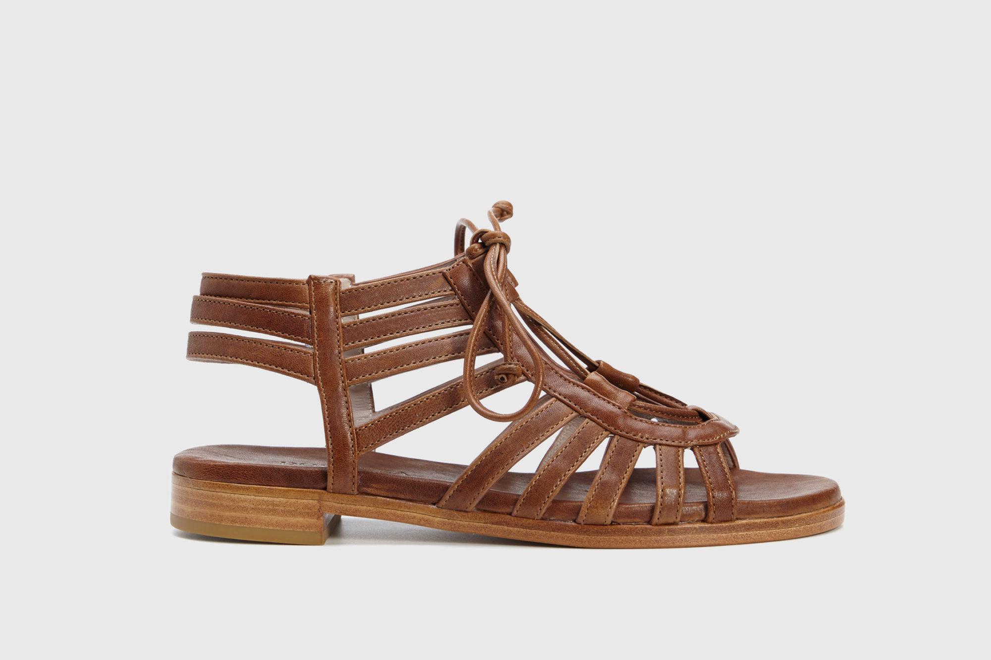 Dorotea sandalia plana Margot cuero ss18 perfil