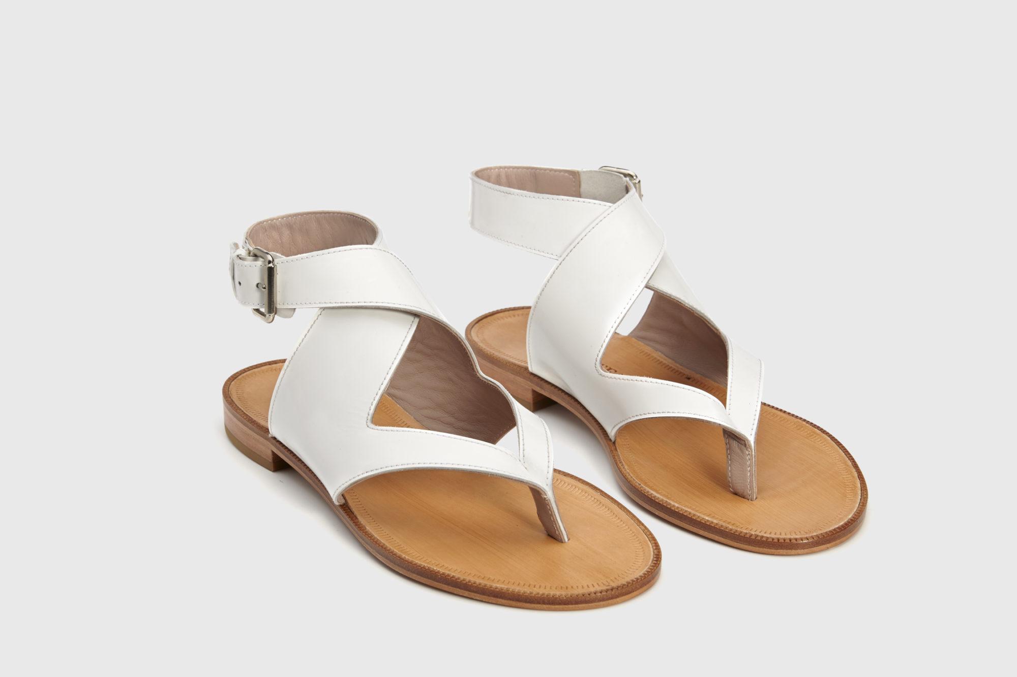 Dorotea sandalia plana Martina blanco ss18 par