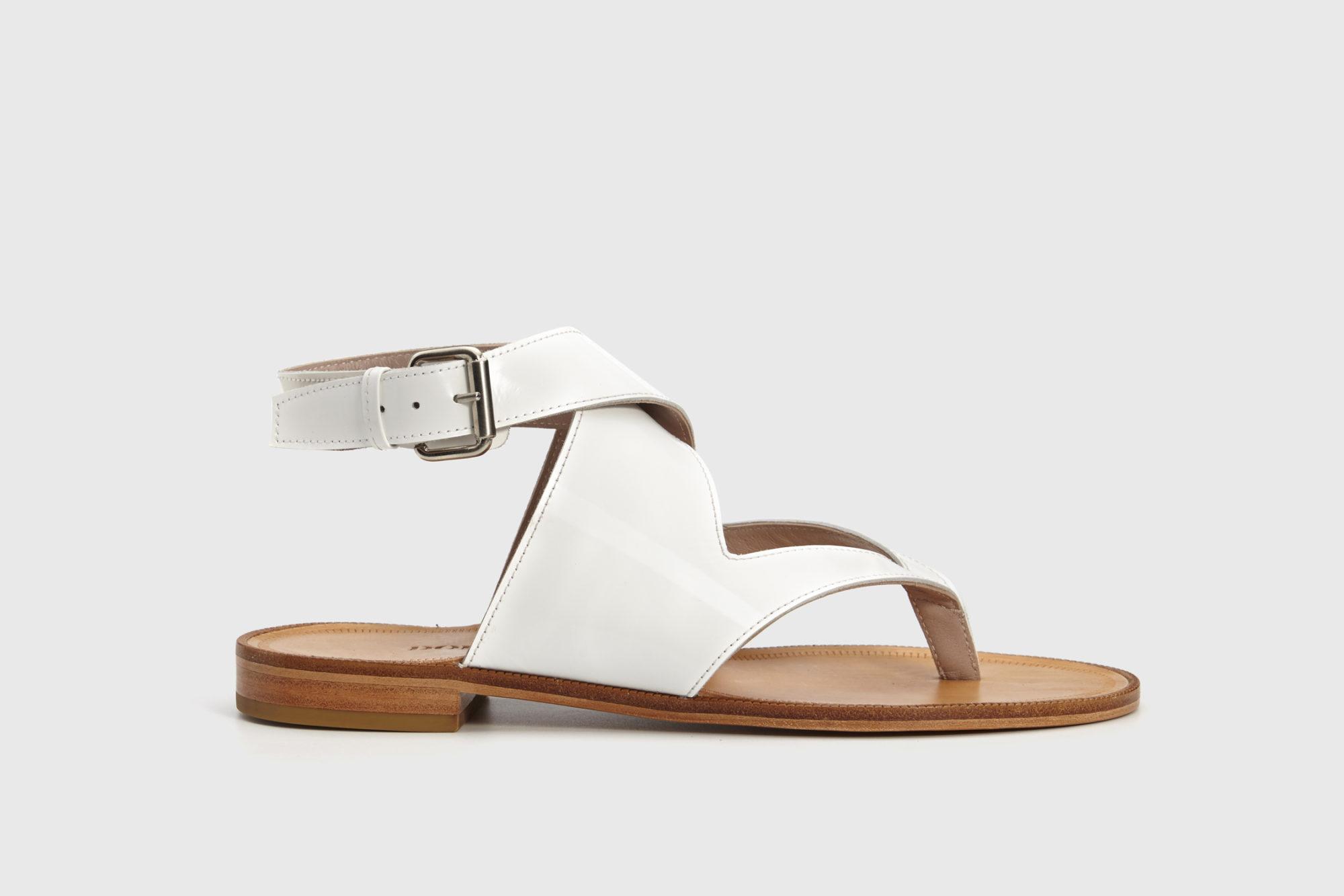 Dorotea sandalia plana Martina blanco ss18 perfil