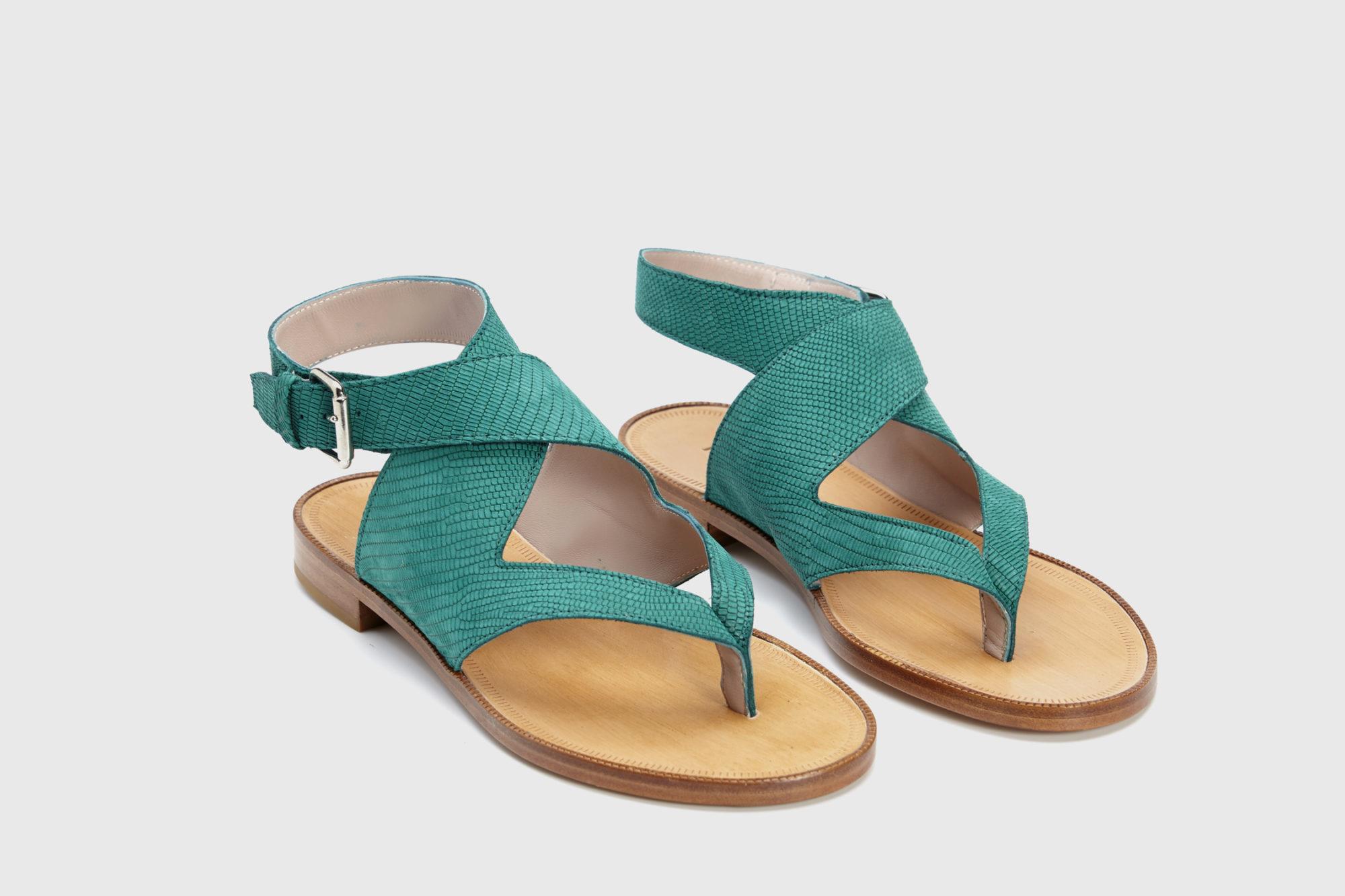 Dorotea sandalia plana Martina verde ss18 par