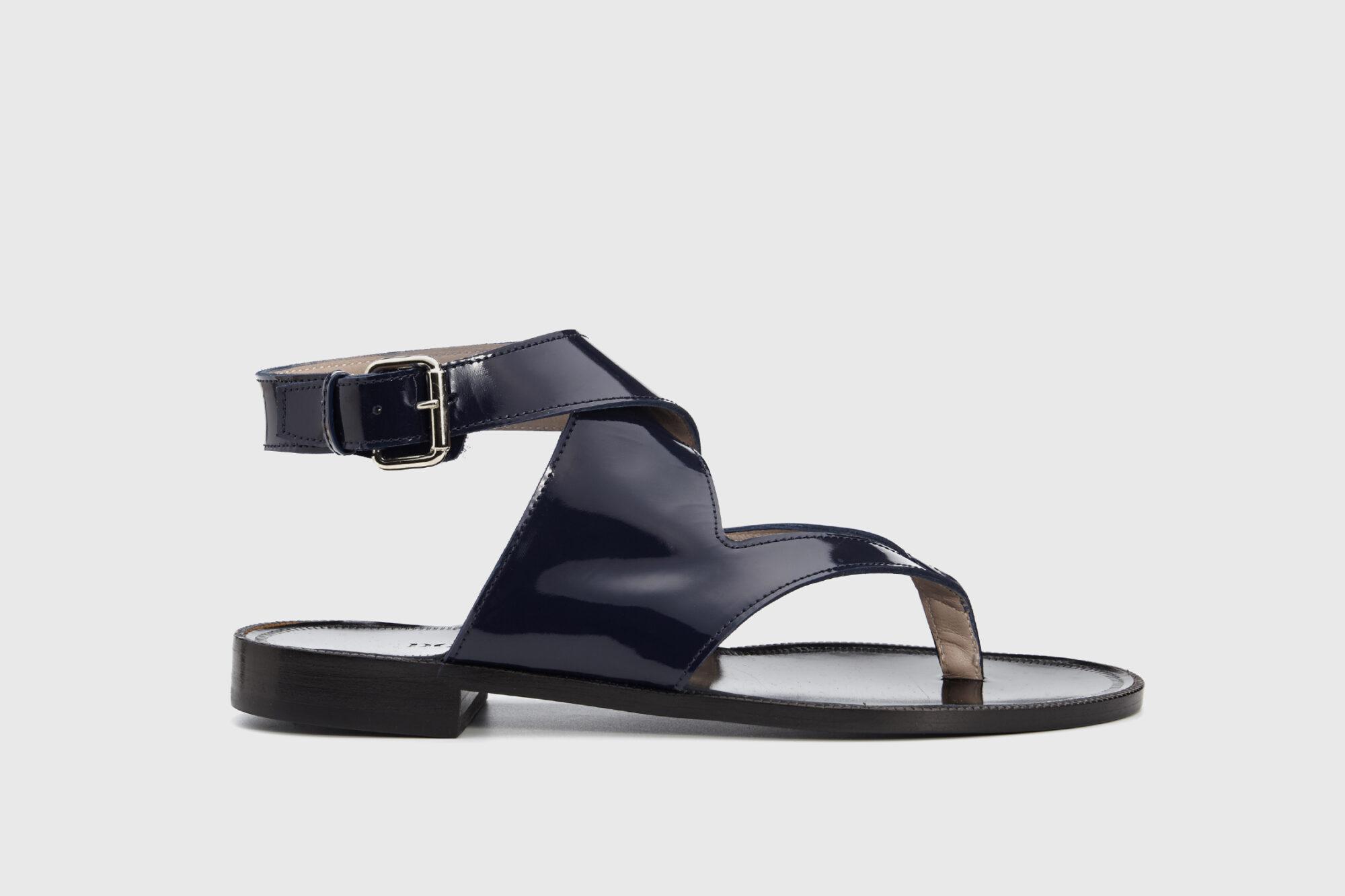Dorotea sandalia plana Martina azul marino ss18 perfil
