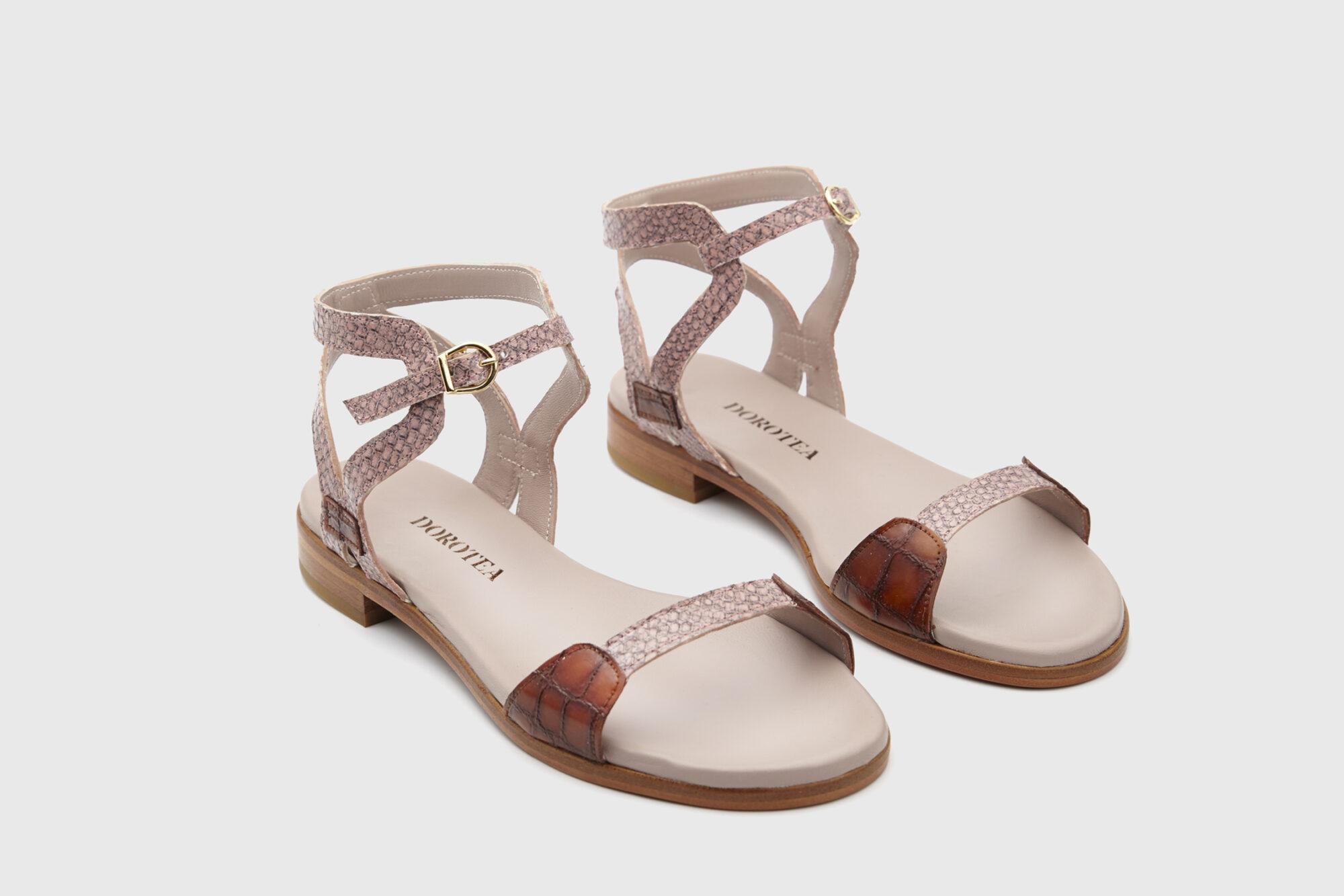 Dorotea sandalia plana Maya rosa ss18 par